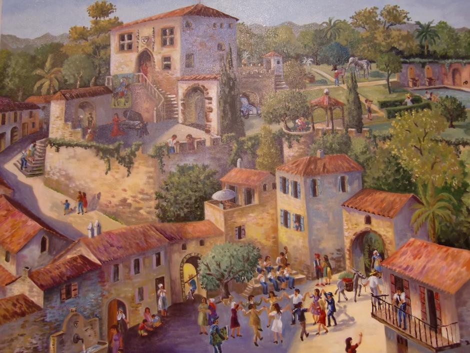 2011 81x100 Huile sur toile Réalisé après la visite de la maison offerte par Dali à sa muse et compagne Gala 900€