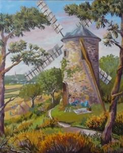 Huile sur Toile - 2012 Réalisé pour la fête des Moulins de Saint Jacut 46cmx55cm 300 euros