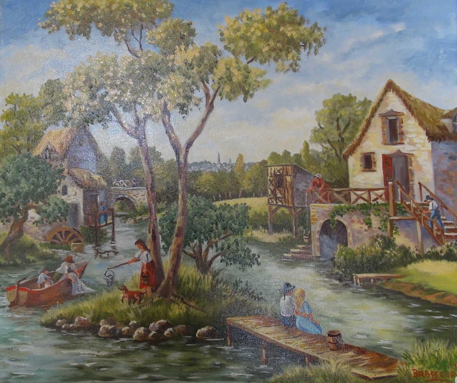 Huile sur toile - 2012 D'après une tapisserie du XVIIIème siècle. 55cmx46cm 300 euros