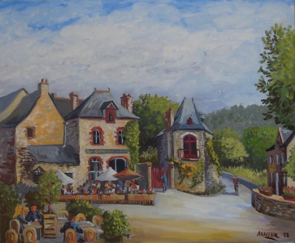 Huile sur toile – 2013 Réalisé à l'occasion d'un concours Couleurs de Bretagne à Rochefort en Terre 38cmx46cm