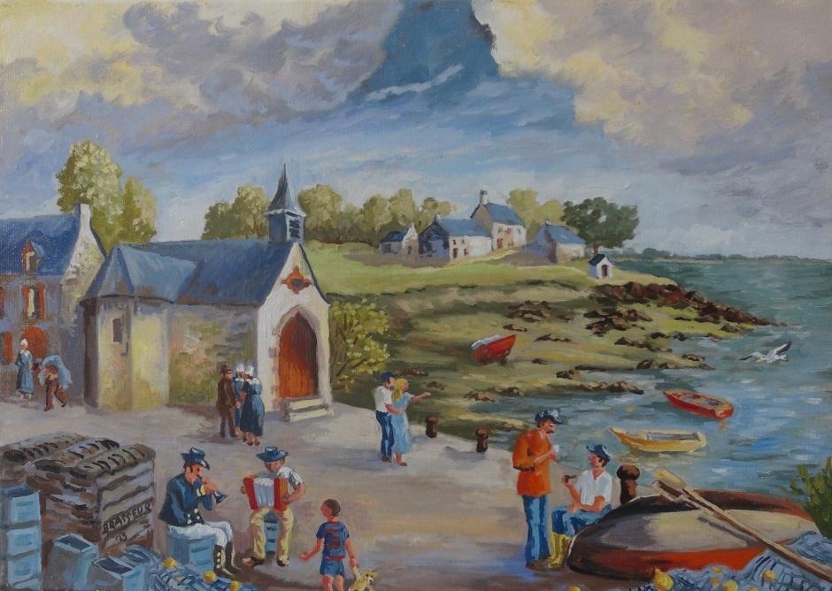 Huile sur toile - 2013 Petite chapelle de Pénerf 33cmx46cm