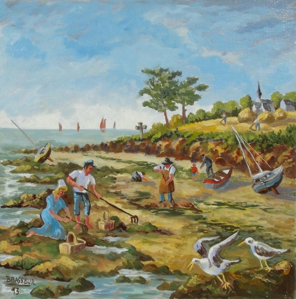 Huile sur toile – 2013 Série des 12 mois de l'année version bretonne 30x30cm