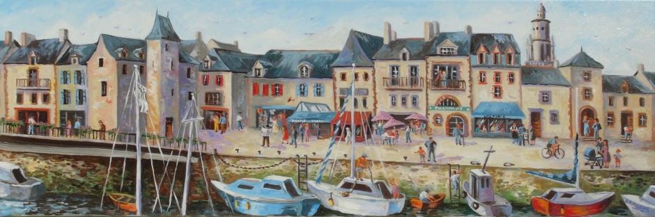 Huile sur toile - 2013 Version d'un tableau réalisé au concours de peinture du Croisic 30x90cm