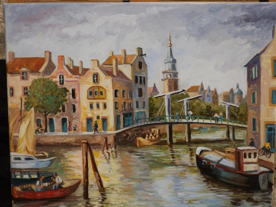 Huile sur toile - 2015 Réalisé suite à un voyage à Amsterdam en hiver