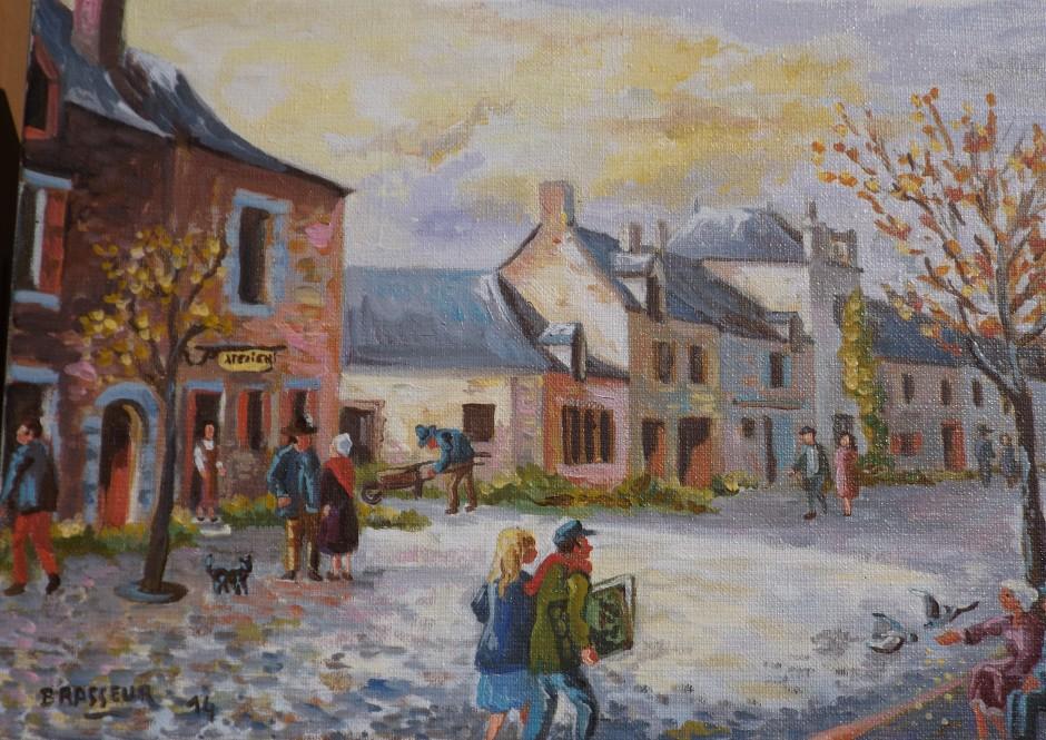 Huile sur toile - 2015 35x24 Rue piétonnière de La Gacilly