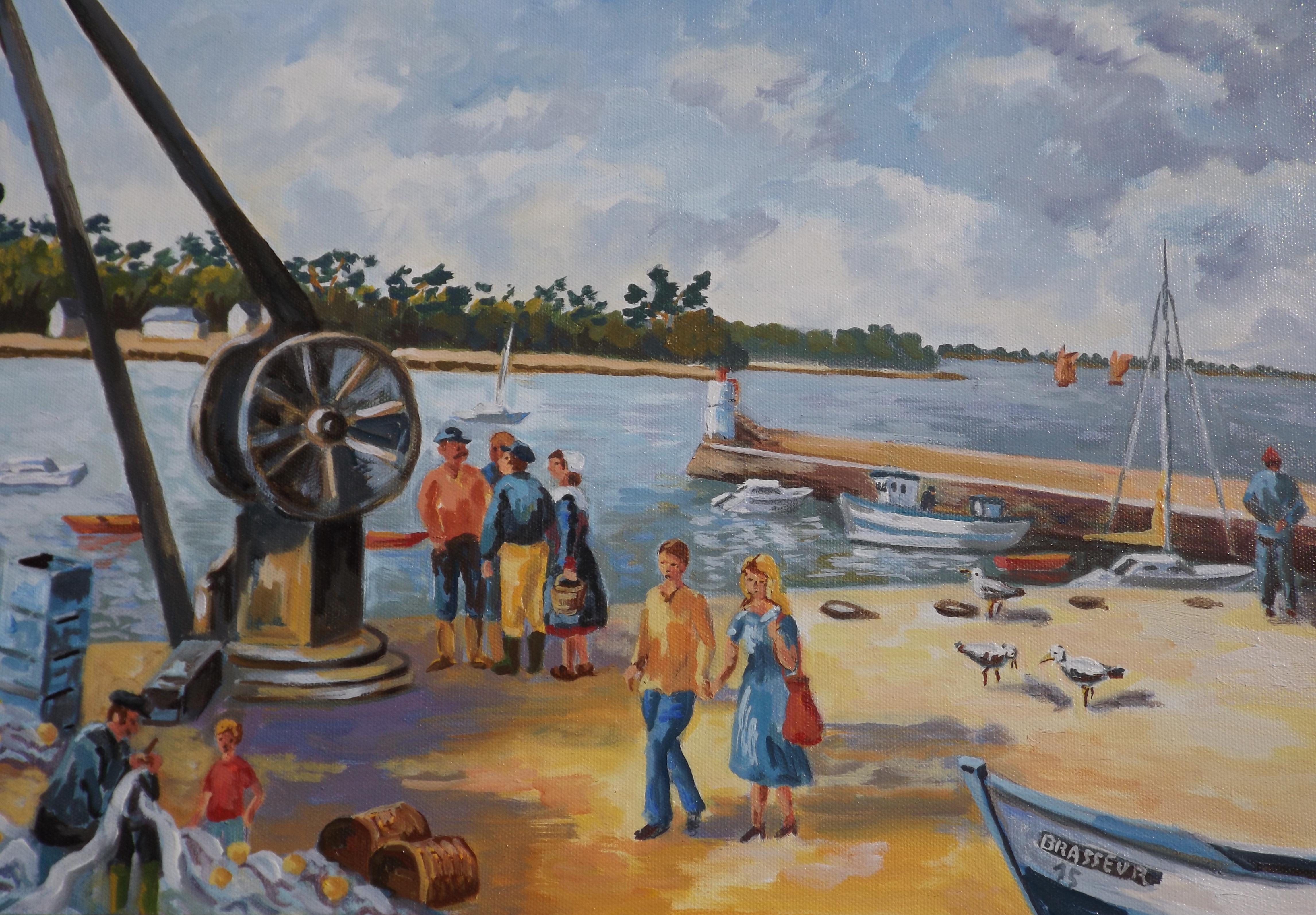 Promenade sur le port saint jacques gilles brasseur - Port saint jacques morbihan ...