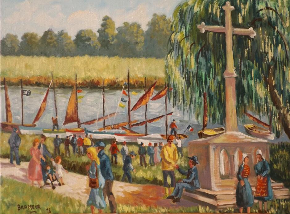 Les vieux gréements de la croix de Redon  Huile sur Toile - 35x27 2016